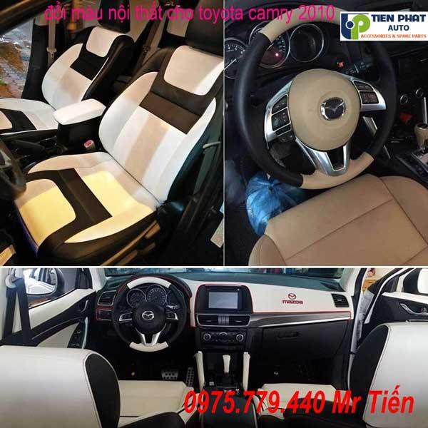 Đổi Màu Nội Thất Cho Toyota Camry 2010 - May Ghế Da Ô Tô